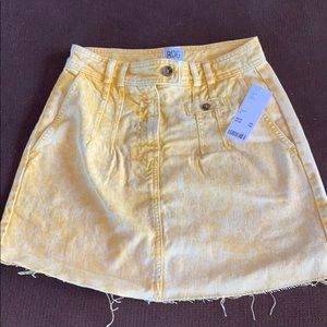 BDG Sonny Acid Wash Mini Dandelion Skirt
